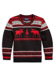 Ralph Lauren Childrenswear Little Boy's & Boy's Wool-Blend Sweater