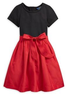 Ralph Lauren Childrenswear Little Girl's Colorblock Stretch Dress