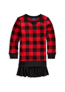 Ralph Lauren Childrenswear Girl's Long-Sleeve Buffalo Check Sweater Dress