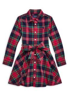 Ralph Lauren Childrenswear Little Girl's Plaid Cotton Shirtdress