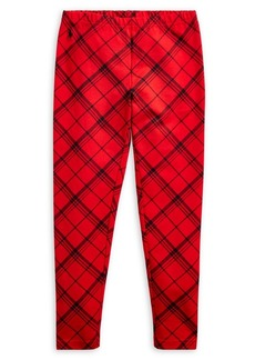 Ralph Lauren Childrenswear Girl's Plaid Stretch Leggings