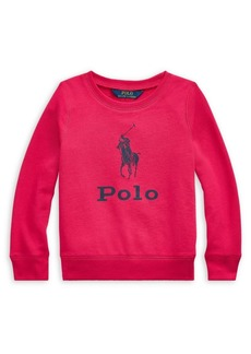 Ralph Lauren Childrenswear Little Girl's Big Pony French Terry Pullover