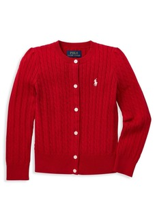 Ralph Lauren Childrenswear Little Girl's Cable-Knit Cardigan