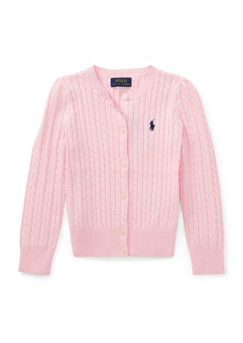 Ralph Lauren Childrenswear Little Girl's Cable-Knit Cotton Cardigan