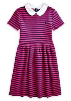 Ralph Lauren Childrenswear Little Girl's Cotton-Blend Fit-&-Flare Dress