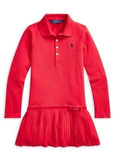 Ralph Lauren Childrenswear Little Girl's Cotton-Blend Mesh Polo Dress