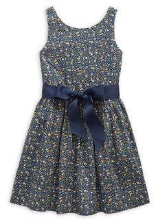 Ralph Lauren Childrenswear Little Girl's Floral Cotton Poplin Dress