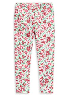 Ralph Lauren Childrenswear Little Girl's Floral-Print Stretch-Cotton Leggings