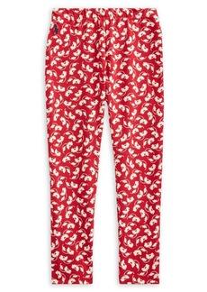 Ralph Lauren Childrenswear Little Girl's Floral Stretch Jersey Leggings