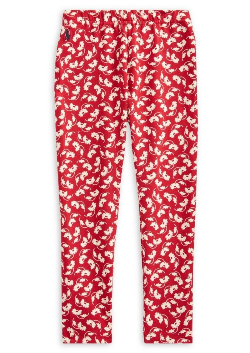 Ralph Lauren Childrenswear Little Girl's Floral Stretch Jersey Leggings