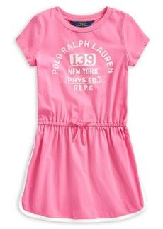 Ralph Lauren Childrenswear Little Girl's Graphic Cotton Tee Dress