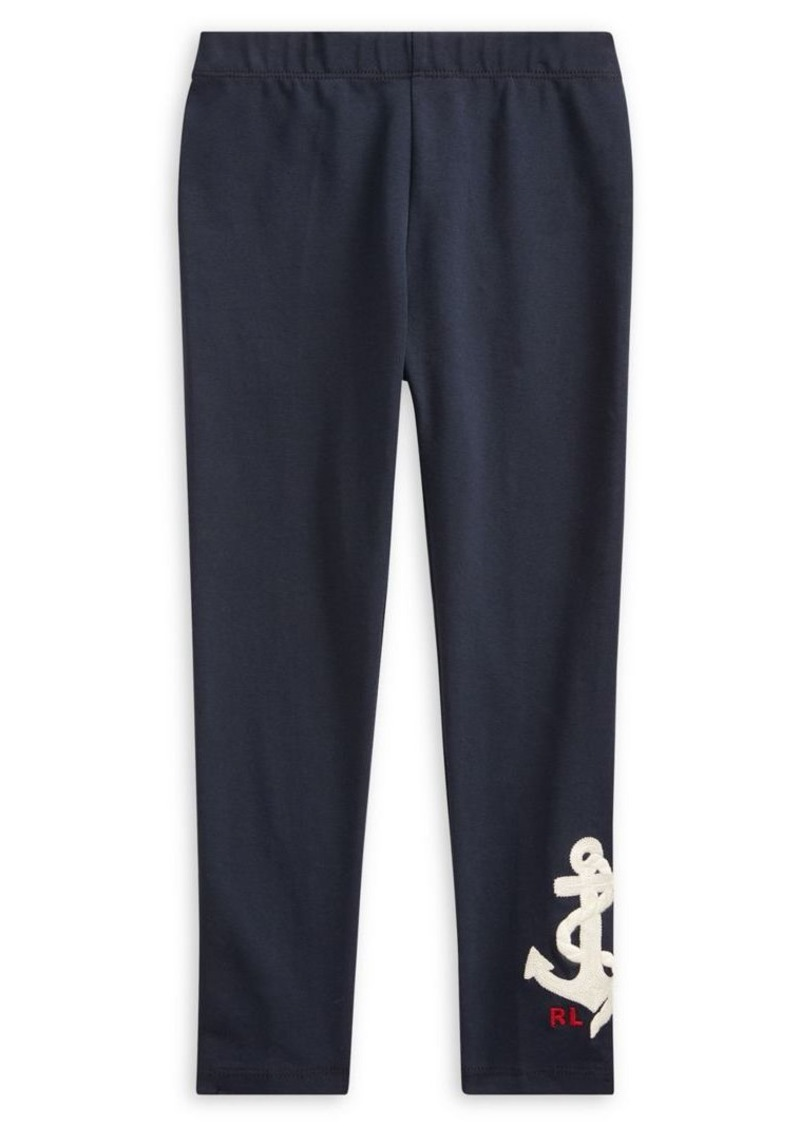 Ralph Lauren Childrenswear Little Girl's Graphic Stretch-Cotton Leggings