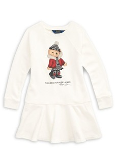 Ralph Lauren Childrenswear Little Girl's Holiday Bear French Terry Dress