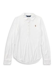 Ralph Lauren Childrenswear Little Girl's Jersey Long-Sleeve Popover