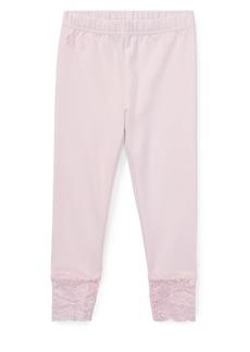 Ralph Lauren Childrenswear Little Girl's Lace-Hem Leggings