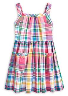 Ralph Lauren Childrenswear Little Girl's Madras Fit-&-Flare Cotton Dress
