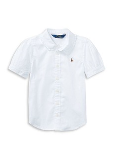 Ralph Lauren Childrenswear Little Girl's Cotton Oxford Shirt