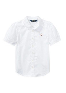 Ralph Lauren Childrenswear Little Girl's Oxford Cotton Button-Down Shirt