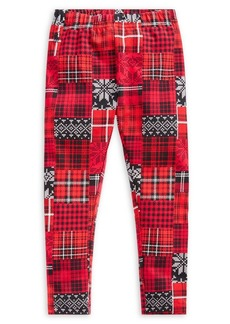 Ralph Lauren Childrenswear Little Girl's Patchwork Plaid Stretch Jersey Leggings
