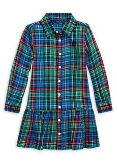 Ralph Lauren Childrenswear Little Girl's Plaid Cotton Dress
