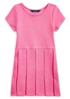 Ralph Lauren Childrenswear Little Girl's Pleated Cotton-Blend Dress