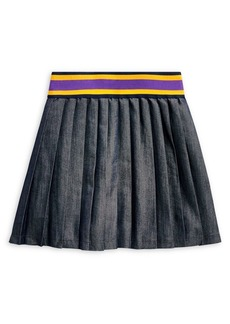 Ralph Lauren Childrenswear Little Girl's Pleated Cotton-Blend Twill Skirt