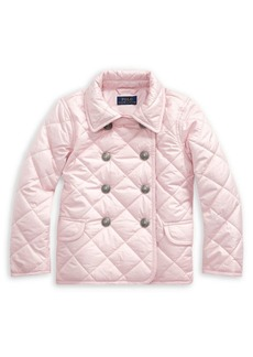 Ralph Lauren Childrenswear Little Girl's Quilted Double-Breasted Jacket