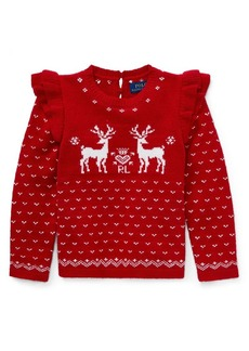 Ralph Lauren Childrenswear Little Girl's Reindeer Sweater