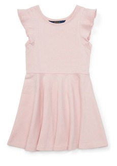 Ralph Lauren Childrenswear Little Girl's Ruffle-Trimmed Dress