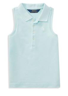 Ralph Lauren Childrenswear Little Girl's Sleeveless Polo Shirt