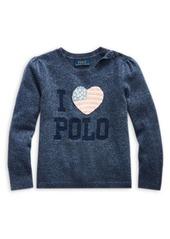 Ralph Lauren Childrenswear Little Girl's Sparkle Wool-Blend Sweater