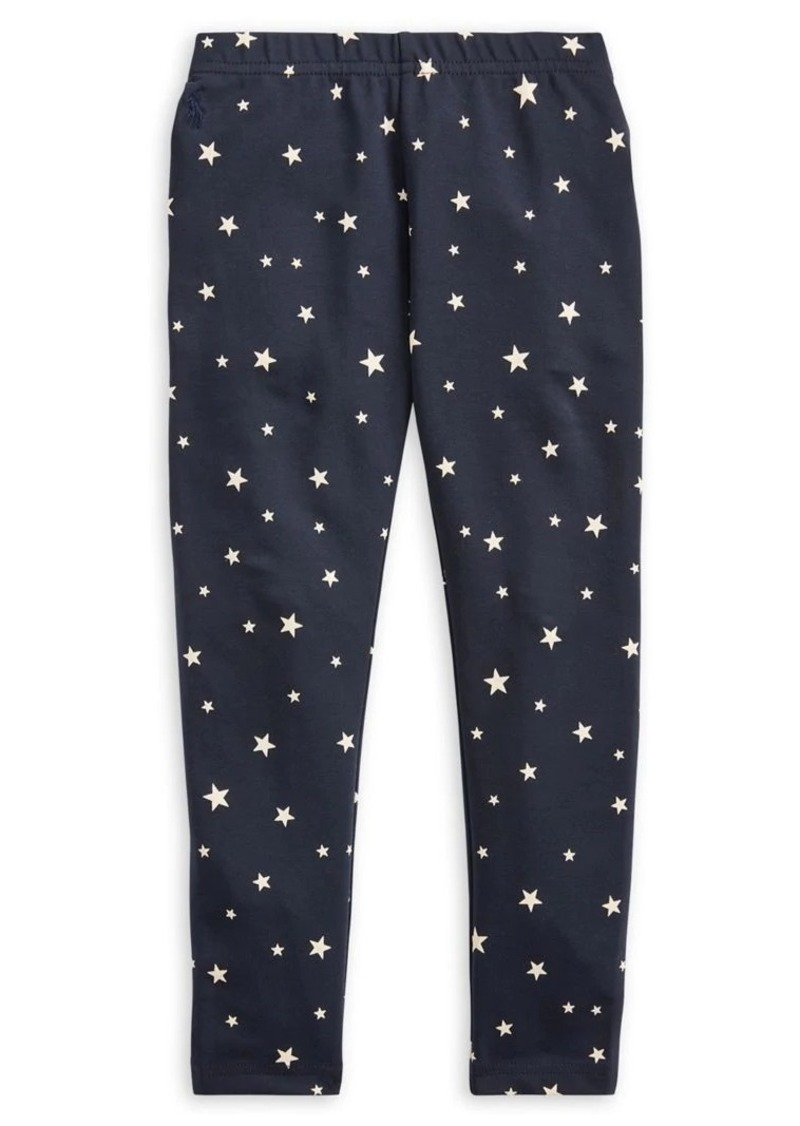 Ralph Lauren Childrenswear Little Girl's Star-Print Stretch Leggings