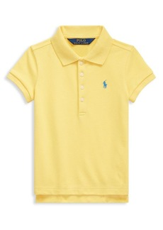 Ralph Lauren Childrenswear Little Girl's Stretch Cotton Mesh Polo Shirt