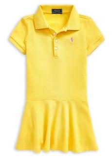 Ralph Lauren Childrenswear Little Girl's Stretch Cotton Polo Dress