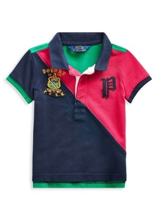 Ralph Lauren Childrenswear Little Girl's Stretch Mesh Polo