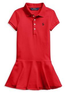 Ralph Lauren Childrenswear Little Girl's Stretch Mesh Polo Dress