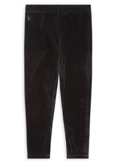 Ralph Lauren Childrenswear Little Girl's Stretch Velvet Leggings