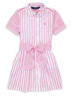 Ralph Lauren Childrenswear Little Girl's & Girl's Stripe Cotton Shirtdress