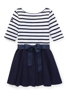 Ralph Lauren Childrenswear Little Girl's Stripe Fit-&-Flare Dress