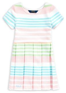 Ralph Lauren Childrenswear Little Girl's Striped Cotton-Blend Dress