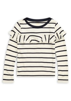 Ralph Lauren Childrenswear Little Girl's Striped Cotton-Blend Top
