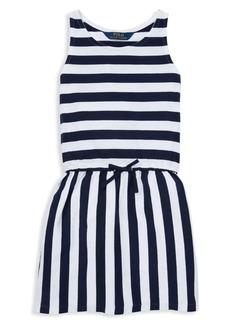 Ralph Lauren Childrenswear Little Girl's Striped Cotton Dress