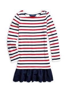Ralph Lauren Childrenswear Little Girl's Striped Cotton Jersey Dress
