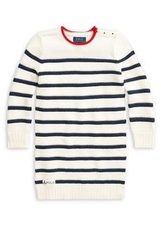 Ralph Lauren Childrenswear Little Girl's Striped Cotton Sweater Dress