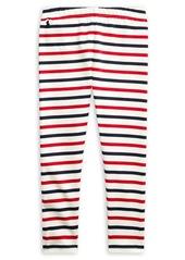Ralph Lauren Childrenswear Little Girl's Striped Stretch Leggings