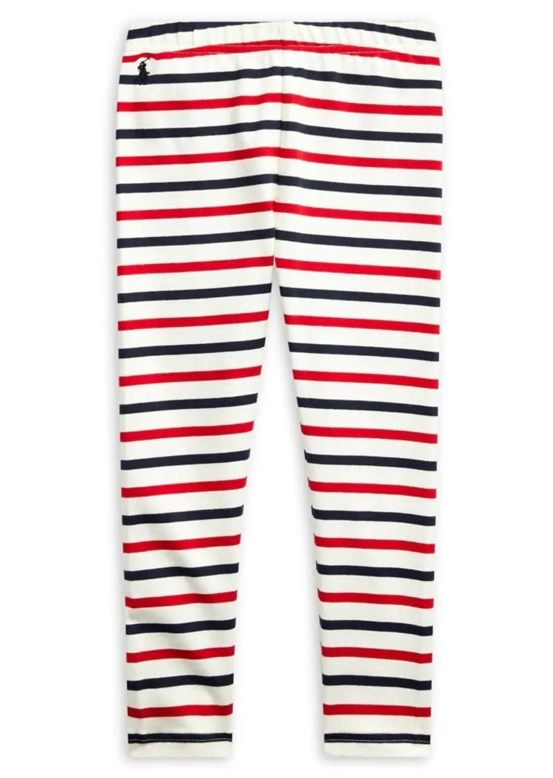Ralph Lauren Childrenswear Little Girl's Striped Stretch Leggings