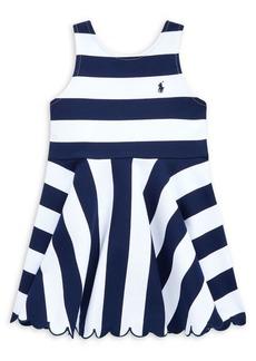 Ralph Lauren Childrenswear Little Girl's Striped Stretch Ponte Dress