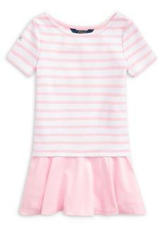 Ralph Lauren Childrenswear Little Girl's Striped T-Shirt Dress