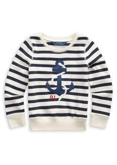 Ralph Lauren Childrenswear Little Girl's Striped Terry Sweatshirt