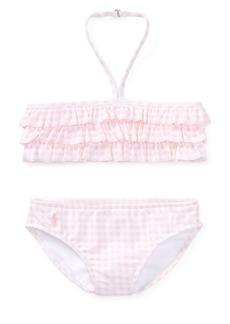 Ralph Lauren Childrenswear Little Girl's & Girl's Two-Piece Gingham Swimsuit